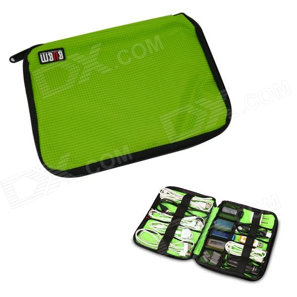 BUBM Portable Digital Accessories Nylon Storage / Organizing Bag - Green (Size S) bubm professional dj bag for pioneer