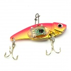 VIB01 Underwater Flash LED Light Vibration Sinking Fishing Lure Bait - Pink + Yellow