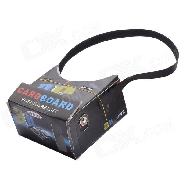 "NEJE DIY Cardboard VR 3D Glasses w/ NFC for 4-7"" Phone - Black"