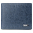 YATEER YA126-3 Men's Fashionable PU Leather Short Wallet - Deep Blue