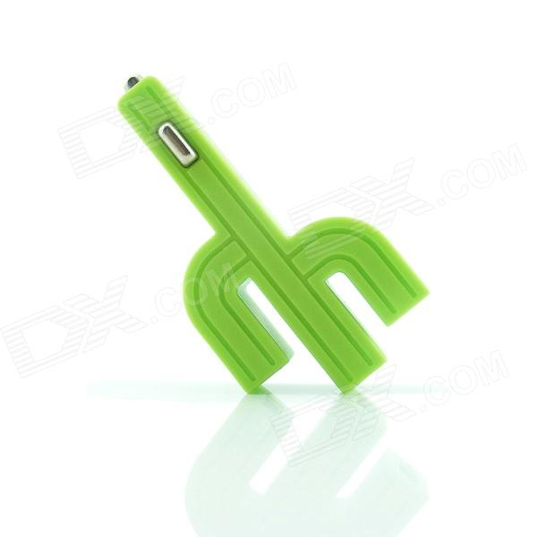 Cactus Mini 3.1A Max. Luminous Triple USB Output Car Charger - Green от DX.com INT