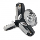 AOTU AT6345 Outdoor Camping Stove Gas Bottle Adapter Nozzle - Black + Silver