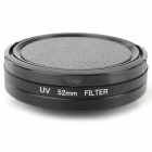 52mm UV Lens + Adapter Ring + Lens Cover Set for GoPro Hero 3 / 3+