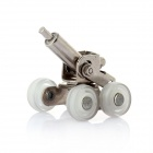 DIY Assembled Stainless Steel Office Desktop / Home Furniture Mini Decorative Cannon - Silvery White