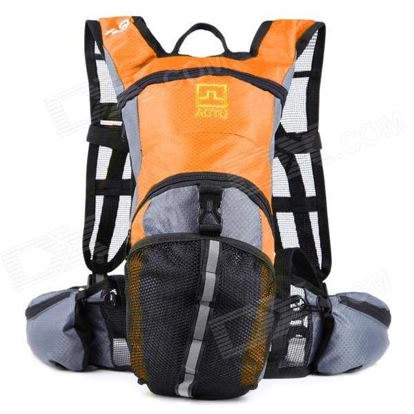 AOTU AT6901 Climbing / Cycling Backpack for Water Bladder / Hydration Reservoir - Orange + Black