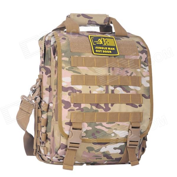 JUNGLE MAN T188 Outdoor Climbing Camping Laptop Notebook Computer Bag Backpack - Desert Camouflage no author match of the day annual 2014