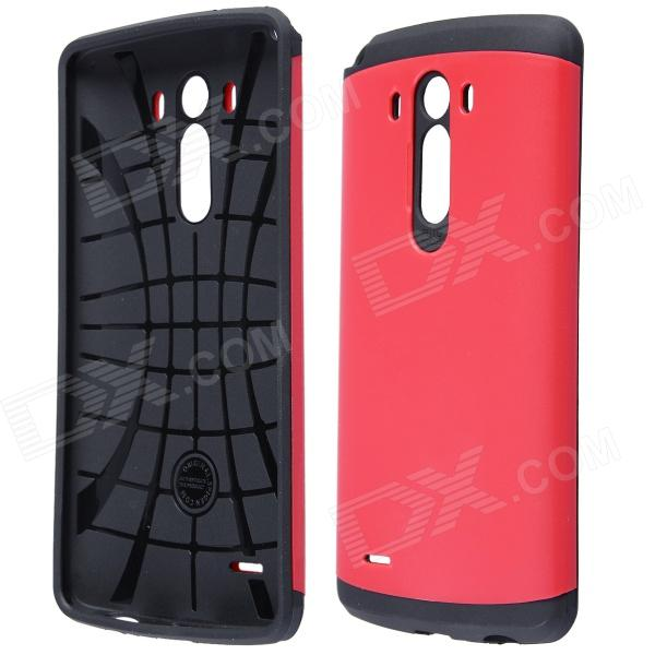 Simple Protective PC + Silicone Back Case for LG G3 - Red + Black радиотелефон panasonic kx prx150 kx prx150rub