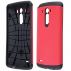Simple Protective PC + Silicone Back Case for LG G3 - Red + Black