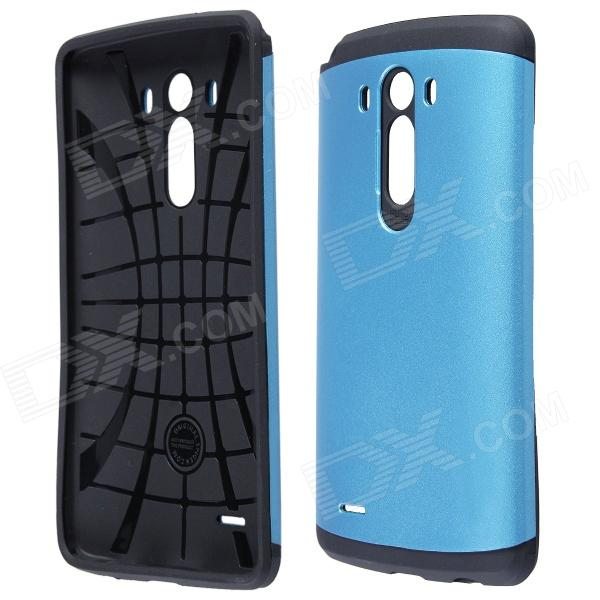 Protective PC + Silicone Back Case for LG G3 - Blue + Black lg g3 s