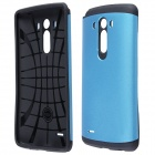 Protective PC + Silicone Back Case for LG G3 - Blue + Black