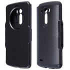 Hotsale PC + Silicone Flip-Open Case w/ Air Cushion, Auto Sleep for LG G3 - Black