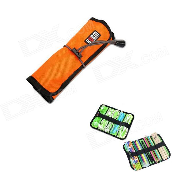 BUBM Multipurpose Portable Cable Wire Scroll Type Storage Organizer Bag - Orange (S) bubm mixer protection portable bag ddj sz controller bag dj gear case storage organizer turntables devices bag