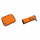 BUBM Multifunctionele Portable Cable scrolltype opslag Organizer Bag - Oranje (S)