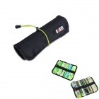 BUBM Multipurpose Portable Cable Wire Scroll Type Storage Organizer Bag - Black (S)