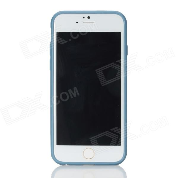 ROCK RK-ip6E Transparent PC Back Shell w/ Soft Edging Case for IPHONE 6 - Grayish Blue