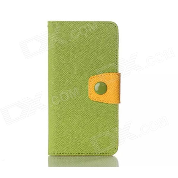 Stylish Protective Flip Open PU + TPU Case w/ Stand for LG G3 - Green