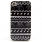 Tribal Tattoo Elephant Pattern TPU Soft Case for IPHONE 4 / 4S - Black + White