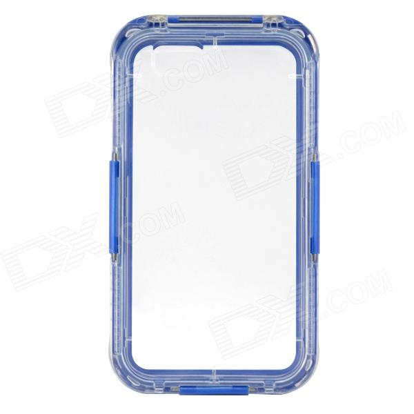Saim Protective Waterproof Shock-resistant Shell for IPHONE 6 - Blue + Transparent