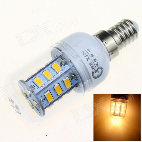 CXHEXIN E14CX24 E14 7W 3000K 500lm 24-5630 SMD LED Warm White Light - White (AC 85~265V) cxhexin e14cx24 5630 e14 5w 3000k 400lm 24 5630 smd led warm white light bulb white ac 85 265v