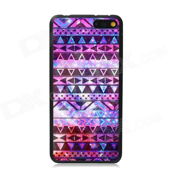 Elonbo Vintage Stripe Plastic Back Case for Amazon Fire Phone - Purple + Multi-Color elonbo vintage stripe plastic back case for amazon fire phone beige pink multi color