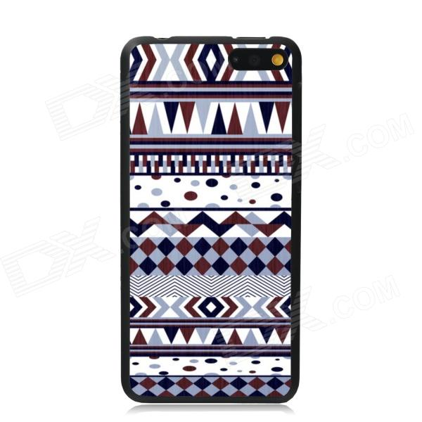 Elonbo Vintage Stripe Plastic Back Case for Amazon Fire Phone - White + Brown + Multi-Color стоимость
