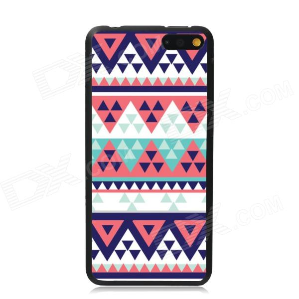 Elonbo Triangle Stripe Protective Plastic Back Case for Amazon Fire Phone - White + Deep Pink стоимость