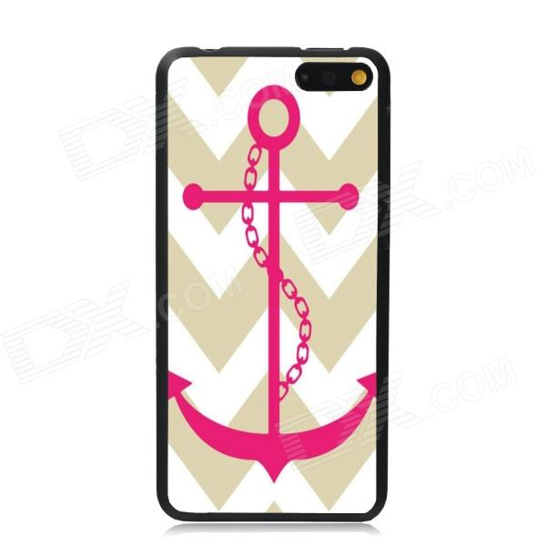 Elonbo Anchor Stripe Protective Plastic Back Case for Amazon Fire Phone - White + Deep Pink стоимость