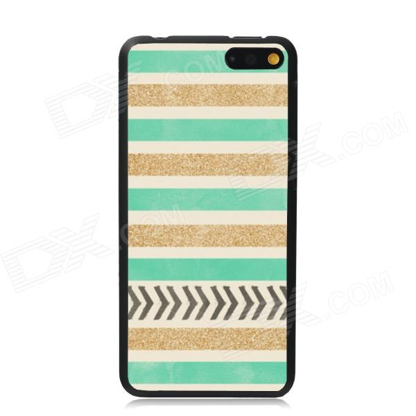 Elonbo Cross Stripe Protective Plastic Back Case Cover for Amazon Fire - Golden + Green + Multicolor elonbo vintage stripe plastic back case for amazon fire phone beige pink multi color