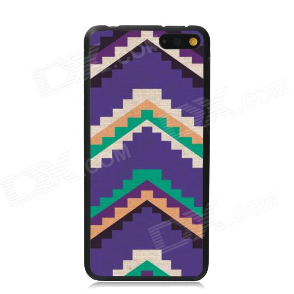 Elonbo Ladder Stripe Plastic Back Case for Amazon Fire Phone - Purple + Green + Multi-Color elonbo vintage stripe plastic back case for amazon fire phone beige pink multi color
