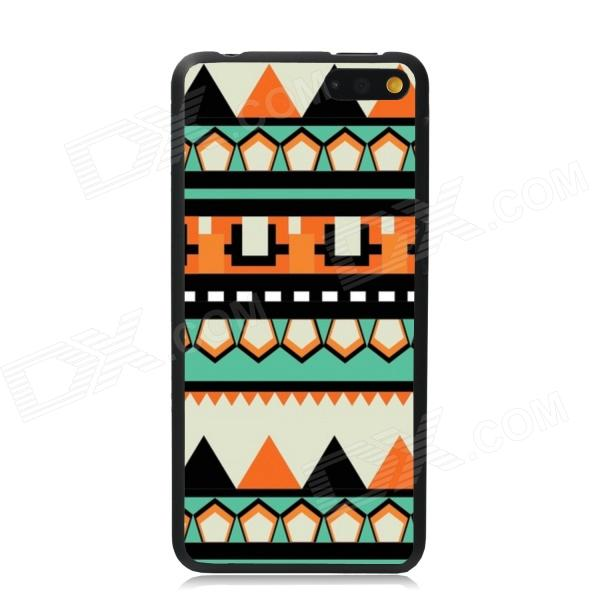 Elonbo Vintage Stripe Plastic Back Case for Amazon Fire Phone - Orange + Black + Multi-Color стоимость