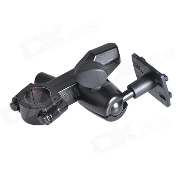 Bike / Motorcycle Mounted Aluminum Alloy Bracket Holder for Phone / GPS - Black