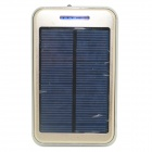 ODEM Solar Powered 12000mAh Li-polymer Battery External Power Bank - Golden + Silver