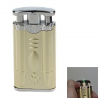 Plastic + Zinc Alloy Electric Shock Joke Prank Lighter Toy - Golden + Silver