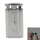 Plastic + Zinc Alloy Electric Shock Joke Prank Lighter Toy - Silver