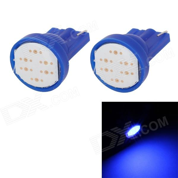 MZ T10 2W 80lm COB Blue Light Car License Plate Light / Clearance Lamp - Blue (12V / 2PCS)