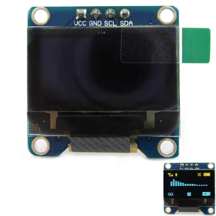 0.96'' 128x64 I2C Interface Blue Color OLED Display Module for Arduino / RPi / AVR / ARM / PIC 0 96 128 x 64 white color oled display module w spi interface for arduino rpi avr arm pic