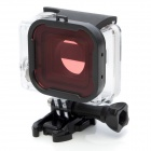 Professional Underwater Dive Filter Converter for Gopro Hero 4 / 3+ - Black + Pink