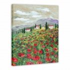 "Iarts AHA072938 Hand-painted ""Wild in Spring"" Oil Painting - Red (60 x 40cm)"