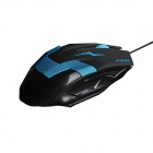 MaShang X5 USB 2.0 LED Optical Wired Gaming Mouse - Black + Blue (150cm)