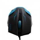 MaShang X5 USB 2.0 LED optisk kablet Gaming Mouse - Svart + Blå (150cm)