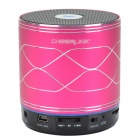 CHEERLINK SDH-800 Hi-FiStereo Bluetooth V2.1+EDR Speaker w/ Hand free / FM / AUX / TF - Deep Pink