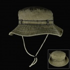 Foldable Brimmed Outdoor Cotton Bucket Cowboy Hat - Light Army Green