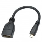 CHEERLINK HDMI 1.4 Female to Micro HDMI Male Cable - Black (16.7cm)