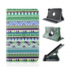 Tribal Lines 360 Degree Rotation PU Leather Case Stand for Samsung Galaxy Tab 3 Lite T110 / T111