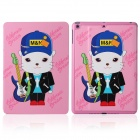 DF-008 Cartoon Cat Pattern Flip Open PU Leather + Plastic Case w/ Stand / Auto-Sleep for IPAD AIR