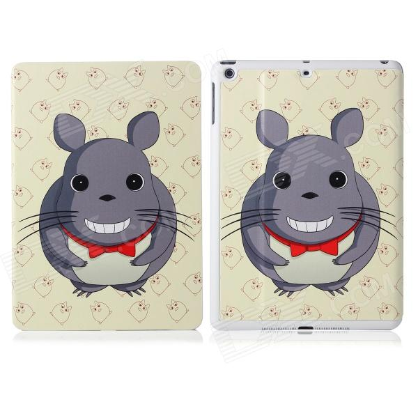 DF-008 Cartoon Mouse Pattern Flip Open PU Leather + Plastic Case w/ Stand / Auto-Sleep for IPAD AIR funny moustaches pattern pu leather flip open case w stand for ipad 2 the new ipad ipad 4