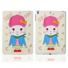 DF-008 Cartoon Rabbit Pattern Flip Open PU Leather + Plastic Case w/ Stand / Auto-Sleep for IPAD AIR