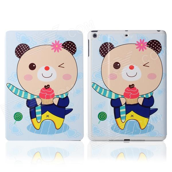 DF-008 Cartoon Bear Pattern Flip Open PU Leather + Plastic Case w/ Stand / Auto-Sleep for IPAD AIR наушники 3d 008