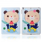 DF-008 Cartoon Bear Pattern Flip Open PU Leather + Plastic Case w/ Stand / Auto-Sleep for IPAD AIR