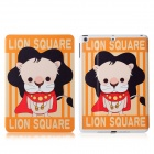 DF-008 Cartoon Lion Pattern Flip Open PU Leather + Plastic Case w/ Stand / Auto-Sleep for IPAD AIR